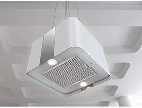 Bielmeier Isla Campana Villa/acero inoxidable/blanco lacado/45 cm/Max. 660 m³/h/eficiencia energética: A: Amazon.es: Grandes electrodomésticos