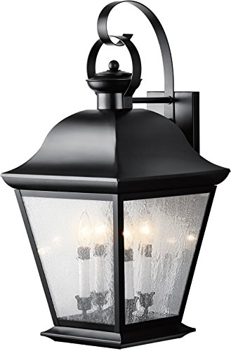Kichler 9704BK Mount Vernon Outdoor Wall 4-Light, Black