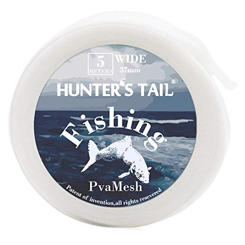 Fishing Mesh - Hunter's Tail Water-Soluble Fishing Mesh, PVA Mesh Fishing Bait Mesh Bag Stocking Baits Non-Toxic No Pollution Efficient Fishing Tool