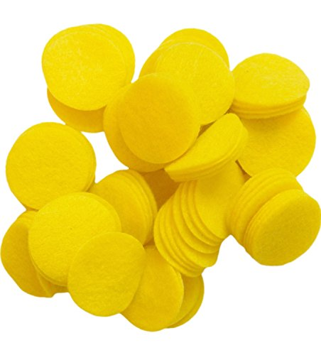 Playfully Ever After 1.5 Inch Yellow 94pc Felt Circles