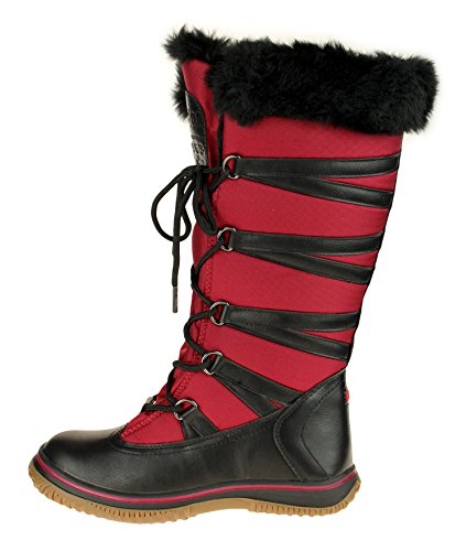 Boots Snow Women's Star Grip Pajar Red Zipped wRqX8PH