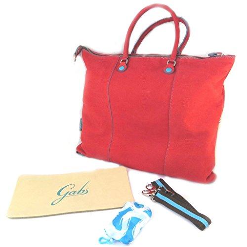 """Gabs [N7589] - Sac cuir 3 en 1 """"Gabs"""" rouge (L) - 43x36x2 cm"""