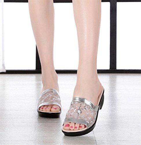 Pendiente con zapatillas frescas señoras verano moda plana con sandalias 1