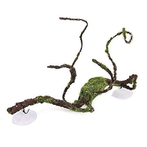 - uxcell Brown Green Lifelike Vine Terrarium Landscape Decor for Reptiles Lizards