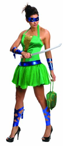 Secret Wishes  Costume Teenage Mutant Ninja Turtles Leonardo Adult Female, Green, Small