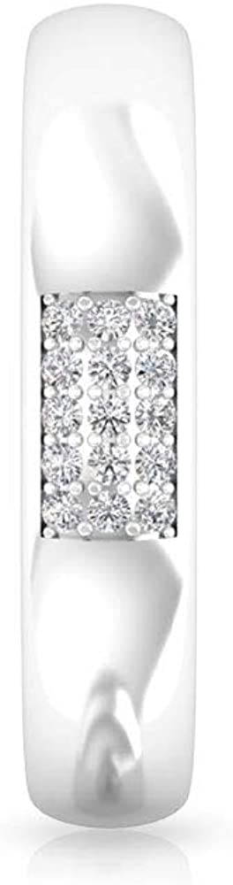 IGI Certified Diamond Wedding Bridal Band Ring, Statement IJ-SI Diamond Cluster Anniversary Ring, Women Wide Band Promise Matching Ring Sets Gift Idea, 14K White Gold, Size:US 8.5