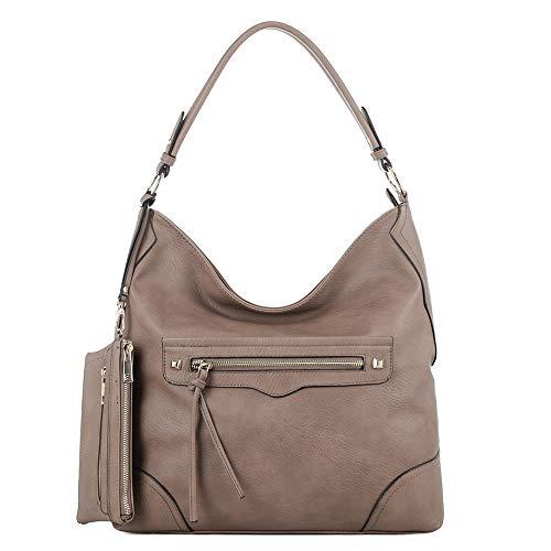 DELUXITY   Crossbody Hobo Slouch Bucket Purse Shoulder Bag  