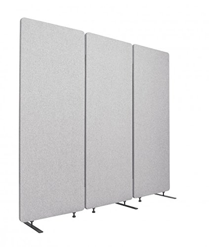 ReFocus Acoustic Room Dividers | Office Partitions - Reduce Noise and Visual Distractions with These Easy to Install Wall Dividers (72 X 66, Cool Gray)