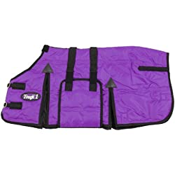 Tough 1 600D Miniature Stable Blanket with Belly Wrap, Purple, 36-Inch