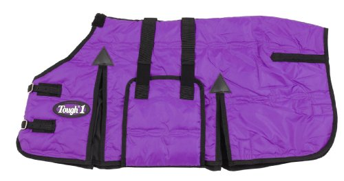 Blanket Pony Horse - Tough 1 600D Miniature Stable Blanket with Belly Wrap, Purple, 45-Inch