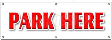 "24/"" PARK HERE DECAL sticker parking garage valet car automobile short term"