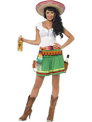 [Smiffys Women's Green/White Tequila Shooter Girl Costume -US Dress 2-4] (Tequila Shooter Girl Costume)