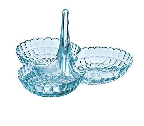 Guzzini Tiffany Hors D'Oeuvres Dish, 9-3/4-Inches by 9-1/4-Inches by 6-Inches, Sea Blue
