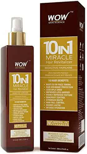 WOW Leave In Conditioner Spray For Dry Scalp & Hair - Revitalizer for Natural, Strong, Healthy Hair Growth - Reduce Hair Loss, Dandruff, Frizz, Tangles - Increase Texture, Volume, Hydration - 200 mL