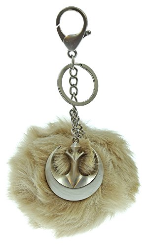 Star Wars Rogue One Jyn Rebel Alliance Furry Pom Pom Handbag Key Ring Charm