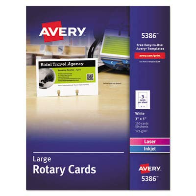 - AVE5386 - Large Rotary Cards