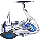 Diwa Spinning Fishing Reels for Saltwater Freshwater 3000 4000 5000 6000 7000 Spools Ultra Smooth Ultralight Powerful…