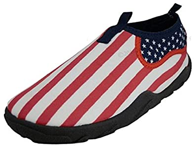 The Wave Womans Waterproof Wave Water Shoes, USA Flag Size 10 30%OFF