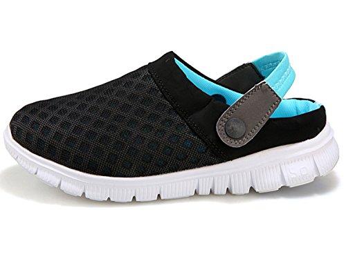 Unisex Clogs Hausschuhe Muffin unten alltägliche Drag Hausschuhe Sommer Beach Schuhe Schwarz Blau