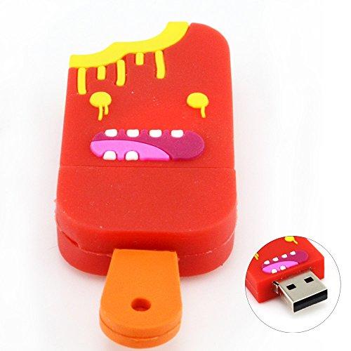 8GB Big Smile Popsicle USB Flash Drive (Red)