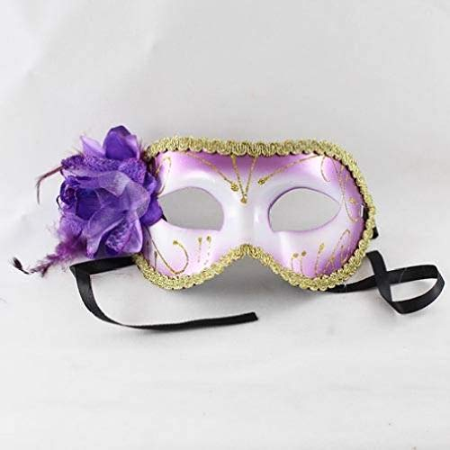 Danike Home Mardi Gras Venetian Flower Masks- (6 Colors) - for Any Party -
