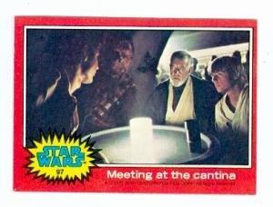 luke-skywalker-ben-kenobi-chewbacca-and-han-solo-trading-card-star-wars-1977-topps-97-meeting-at-the