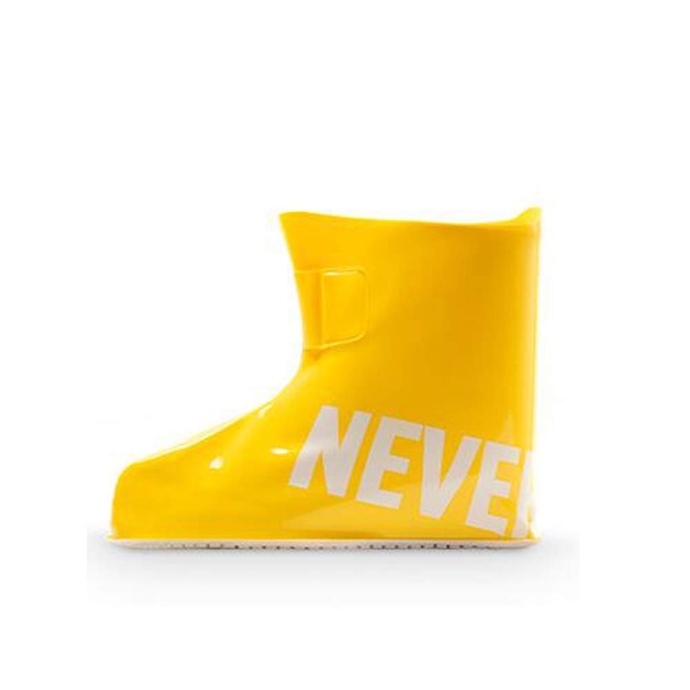 WUZHONGDIAN Shoe Cover, Waterproof Non-Slip Shoe Cover, Silicone Shoe Cover, Thick Wear-Resistant Reusable, High 18CM (Color : Yellow, Size : XXL) by WUZHONGDIAN