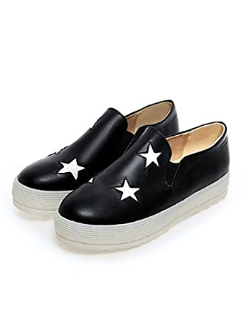 ZQ gyht Zapatos de mujer - Plataforma - Creepers / Punta Redonda - Mocasines - Exterior / Vestido / Casual - Semicuero - Negro / Plata , silver-us5 / eu35 ...
