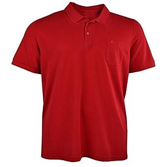Ragman Polo Hombre con Bolso Rojo Sobredimensionado Pima Algodón ...