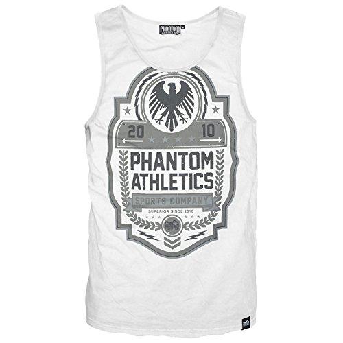 "Phantom Athletics Tank Top ""Classic"" - White - Sport Freizeit Gym Lifestyle Fitness Shirt"