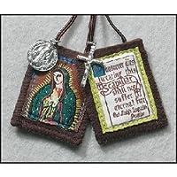 Escapulario con medallas de Nuestra Señora de Guadalupe Brown