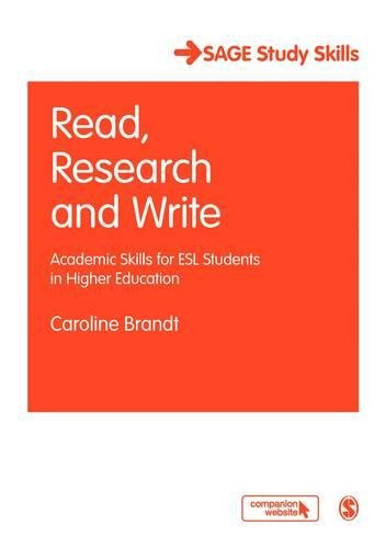 Read, Research and Write: Academic Skills for ESL...