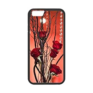 red floral CUSTOM Case Cover for iPhone6 Plus 5.5