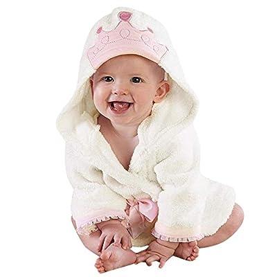 Pumsun ?? Baby Boys Girls Kids Bathrobe Crown Printing Hooded Towel Pajamas Clothes