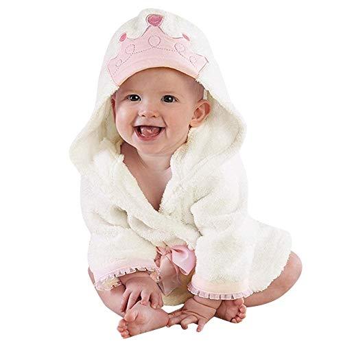 G-real Baby Coat,Baby Boys Girls Kids Bathrobe Crown Printing Hooded Towel Pajamas Clothes+Fall Winter Tops