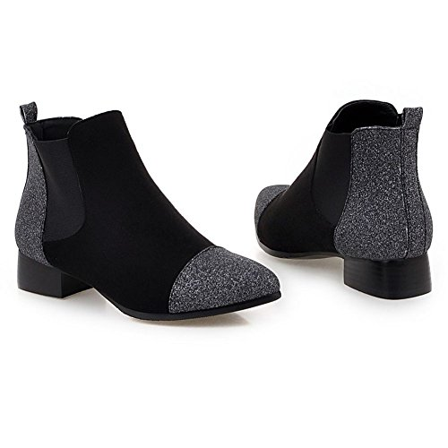 mujer Heel Chelsea bajo Botines gamuza negra de DecoStain tacón sintética Chunky Reino gemelos Block de de de Mid Zapatos Botas Negro Unido gamuza para Tamaño EwzqIaH