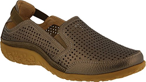 Spring Step Women's Juhi Perforated Slip On,Bronze Full Grain Leather,EU 39 - Leather Footwear Bronze