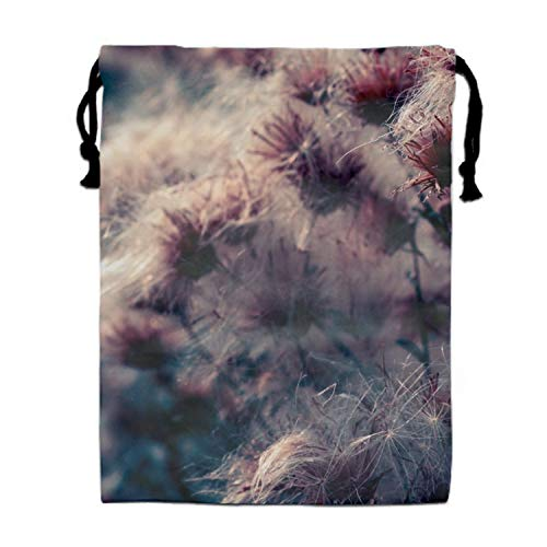 - Luxury Jewelry Pouches Drawstring Gift Favor Bags Candy Bag, 15.75x11.8 Inch-Thistle Flower Spider Webs