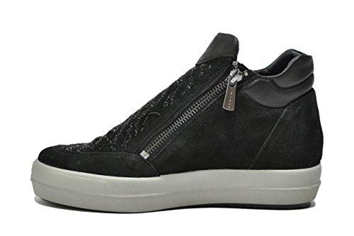 Igi&co Sneakers polacchini nero zeppa scarpe donna 87755