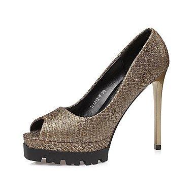 Fall Spring CN36 Leather EU36 UK4 US6 Women'sHeels Comfort Stiletto Heel Dress aA75WgqT