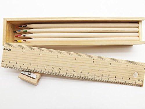 Leisial Lápices de Colores Caja de Madera para Dibujo Arte Coloreado Lápices (12 unidades): Amazon.es: Hogar