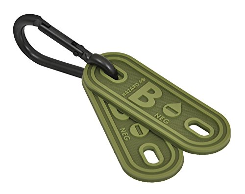HAZARD 4 B Negative Blood-Type Lacer Tactical Multi-Position Marker (Pack of 2), OD Green