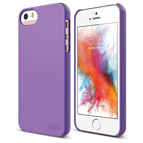 elago S5 Slim Fit 2 Case for New Apple iPhone 5 + HD Professional Extreme Clear film included - Full Retail Packaging - Soft Feeling Purple