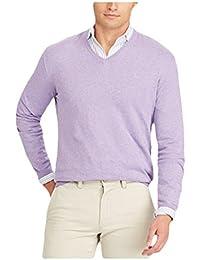 Polo Men's Cotton V-Neck Long Sleeve Pullover Sweater