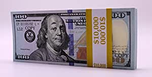 HQ PROP MONEY 10 THOUSAND DOLLARS New Style Copy 100s DOUBLE SIDED Stack Good For Movie, Pranks, Music Videos, & Advertising