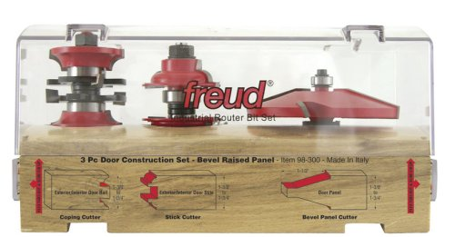 Includes 99-267 Roundover RandS w 99-515 Bevel Raise Panel Router Bit- 1-3/4 or 1-3/8 Doors - Edge Treatment And Grooving Router Bits - Amazon.com  sc 1 st  Amazon.com & Freud 98-300 3-Piece Exterior-Interior Door Construction Set ...