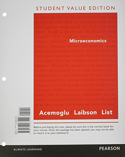 Microeconomics, Student Value Edition Plus NEW MyLab Economics with Pearson eText -- Access Card Package (Pearson Series