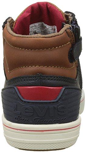 Levis Jungen Portland Kurzschaft Stiefel Bleu (Navy/Brown)