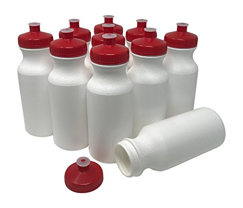 CSBD Blank 20 oz Sports and Fitness Squeeze Water Bottles, B