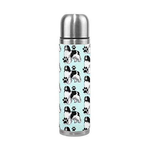 (OLOSARO Landseer Newfoundland Dog Water Bottle Stainless Steel Thermos Vacuum Insulated Double Wall Travel Flask Mug with Lid 17oz)